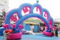 Arch outdoor wedding arches - Giant inflatable Wedding decorations Outdoor Inflatable Crown Arch For Entrance on Lawn Wedding