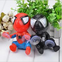 araba emici oyuncaklar toptan satış-16 CM Örümcek Adam Oyuncaklar için Örümcek Adam Örümcek Adam Pencere Sucker Örümcek-Adam Bebek Araba Ev Iç Dekorasyon 2 Renk