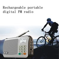 Wholesale Rechargeable portable mini pocket digital FM radio with USB port TF slot The Aged Best MP3 Player Speaker for hiking exercise