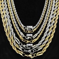 Wholesale Top Asian Jewelry Wholesale - Europe and America Fashion Jewelry 925 Silver Chains For Necklaces Top Quality Gold Rope Chains For Men Xmas Gift