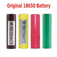 Wholesale Use Wholesale Cell - Original 18650 Battery LG HG2 3000MAH HE2 HE4 Samsung INR 25R 2500mah Rechargeable Batteries Using Cell 100% Authentic