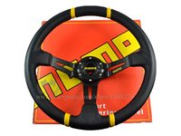 Wholesale Momo Carbon Steering Wheel - PH82 21-25 350mm MOMO Deep Corn Rally Steering Wheel Material: PVC Carbon Fiber Look \Suede Leather \Red Stitching\ Black Stitching