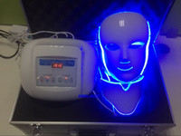 Wholesale home led light therapy machine - 7 colors LED light photo facial therapy spa home salon use machine