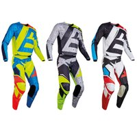 Wholesale Bike Racing Gear - 2017 NIRV 180 HC Motocross Gear Jersey & Pant Combo Men's Motocross MX ATV Dirt Bike Racing Sets motocross pants