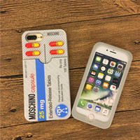 Wholesale Iphone Elements - Cartoon Element funny pill box phone Cases For iphone7 7plus soft silica gel case back cover For iphone6 6S 6S plus free shipping
