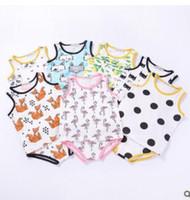 Wholesale Batman Tees - Baby Clothing Sets Toddler Clothes Kids Tank Tops Pants Animal Fox Summer Vest Shorts Baby Batman Dot Sleeveless Tee Pants Kids Clothes J284
