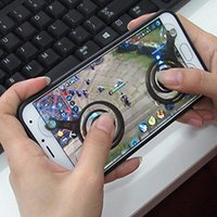 Wholesale Rocker Wheels - Mini Mobile Game Clip Joystick Phone Sucker Joypad Paste Handle Wheel Mouse Gamepad Rocker Joypad Tablet Controller for Android Smartphone