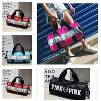 Wholesale Gift Luggage - Pink Duffle Bags Women Girls Designer Handbags High Quality Chrismas Gift Bags Beach Exercise Luggage VS Bags Sample Link