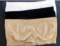 Wholesale Xxl Bandeau Tops - Big promotion ! Fashion 5 Seamless Tube top Bra Bandeau Bra No Wires S,M,L,XL,XXL 3pcs setfree shipping