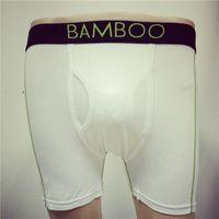 Wholesale Brand Boxer Briefs For Men - Soft Brand Boxers Mens Underwear White Bamboo Fiber Slim Fit Brief Comfortable Cotton Sweat-absorbent Mens Underwear for Men
