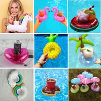 Wholesale DHL free inflatable drink holder designs pool drink cup holder inflating floats swimming pool toys in stock