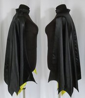 Wholesale Reversible Capes - 2017 Newest Bat Hero Style Cloak Reversible Bridal Capes Winter Out Wear Halloween Jacket Custom Made