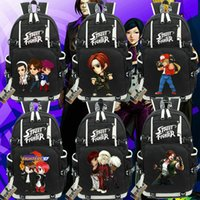 Wholesale Iori King Fighters - The king of fighters backpack Kyo Kusanagi day pack KOF Iori Yagami school bag Game rucksack Sport schoolbag Outdoor daypack