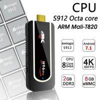 Wholesale 2g Stick - H96 Pro Mini PC Android 7.1 TV Stick Smart TV Dongle Amlogic S912 Octa Core 2G 8G H.265 4K Full HD 2.4G Wifi Small Media Player