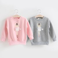 Wholesale Pullover Child Female - Wholesale- Baby fleece sweatshirt 2015 autumn and winter female child children's clothing child girl pullover outerwear wt-5702