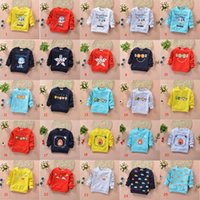 Wholesale Children S Animal Sweater Coats - Spring 2017's new baby knitting cotton coat sweater and child children cartoon children long sleeved T-shirt