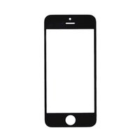 Wholesale Iphone 4s Glass White - 200Pcs Top Quality Black White For Apple iPhone 4 4S 5 5C 5S front Out Glass Lens Touch Screen Panel Free DHL