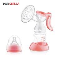 emzirme pompası toptan satış-Manuel Göğüs Besleme Pompası Orijinal Manuel Süt Süt Silicon PP BPA Ücretsiz Süt Şişesi Ile Meme Fonksiyonu Göğüs Pompaları T0100