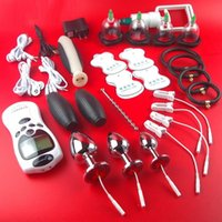 elektrische bdsm geräte großhandel-HEIßER Stromschlagtherapiegerät Schröpfen Tasse Vakuumsauger Gesundheit Gadgets Maschine BDSM Bondage Getriebe Produkte