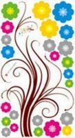 3d çiçek duvar sanatı toptan satış-Çocuk Odası Kız Salon Yeni Tasarım Çiçek Wall Stickers Yatak Odası Dekor Sanat Çıkartması Çıkarılabilir Duvar Kağıdı Duvar Sticker