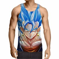 Wholesale Pink Animations - Wholesale- Dragon Ball Z T-shirt Super Saiyan 3d T Shirt Tees Tops Animation 3d Vegeta Hip Hop Men boy Dbz Tee Shirts Tops Plus Size