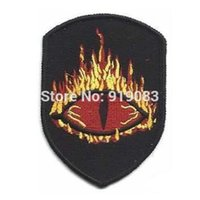 Wholesale Lord Rings Cosplay - LORD OF THE RINGS MORDOR EYE PATCH COSPLAY Iron On Badge TV Movie Characters Series Embroideried Logo Badge Halloween Costume