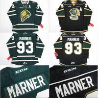 Wholesale Ice Hockey Logo - #93 Mitch Marner Jersey, OHL London Knights CCM Premer 7185 Mitch Marner Men's 100% Stitched Embroidery Logos Hockey Jerseys Green Black