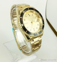 Wholesale Men Models Dress - Men Full Steel Quartz business men brand Calendar watches quartz luxury Men And Women Two Model Watch
