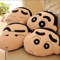 Wholesale Crayon Shin Doll - Wholesale- Gift for kids 1pc 45cm funny expression Crayon Shin chan cute plush hold doll pillow cushion novelty children stuffed toy
