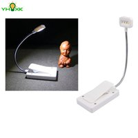Wholesale Solar Book Lights - Wholesale- Solar Mini Flexible Clip On Reading Light Solar Charging Book Lamp Solar Powered Reading Emergency Light Table Lamp For Reader