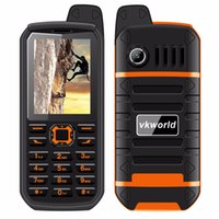 Wholesale Led Ip54 - VKworld Stone V3 PLUS 2.4inch IP54 4000mah Battery Dual Sim Card LED Flashlight FM Radio Waterproof Anti-Dust Dustproof 2G GSM Cell Phone