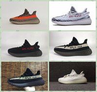 Wholesale Boost V2 Beluga Cream White Oreo Running Shoes Sply V2 Zebra Mens Womens Sport Shoes Kanye West V2 Boost Black White