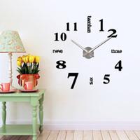 Wholesale Art Clock - 3D DIY Acrylic Wall Clock TWSYin Wall Clock Stickers for Kids Room DIY Home Decorations wall decals art cartoon