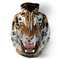 Wholesale Digital 3d Printing - Wholesale- 2016 Men Hoodies 3D Sweatshirt Digital Printing Tiger Autumn Winter Fashion Male Sweatshirts 3D Animal Print Pattern Clothing 10