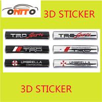 Wholesale Carbon Fiber Umbrellas - 3D sticker TRD-sport TRD umbrella Car Stickers Emblem Decorations Accessoris metal car trunk emblem