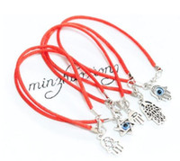 Kabbalah Hand Charms Red String Good Luck Bracelets 20pcs
