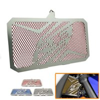 Wholesale Radiator Grill Covers - Motorcycle Engine Steel Radiator Bezel Grill Guard Fuel Tank Cover Protector For Yamaha YZF R3 2015-2017 R3 ABS 2017 engine grill guard cove