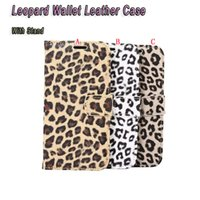 Leopard Wallet Leather Pouch Case para Samsung Galaxy Note 8 note8 S8 LG G6 Huawei P10 Plus Luxury Stand ID Card Pele para celular 50pcs