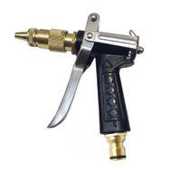 pistola de agua de metal al por mayor-1 Unids de Alta Calidad de Latón de Metal Pistola de Agua de Cobre Puro Cuerpo de Metal de Lavado de la Manguera de la Manguera de la Pistola de Pulverización para Auto Lavado de Árboles Árbol Flor Wate