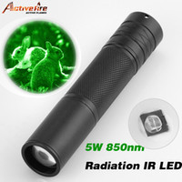 Wholesale Activefire W Torch nm Zoom Infrared Radiation IR LED Night Vision Flashlight Camping Light Hunting Lamp IR Lamp LED torch