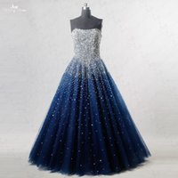 Wholesale Sequin Tube Top Dresses - 2017 Tube Top Straps Dresses Sequins Prom Dresses Long Silver Handmade Bead African Formal Prom Plus Size Selling Real Picture Evening Gown