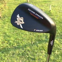 Wholesale Skull Wedges - 2017 original datang dragon golf wedges skull forged pirate wedges 52 56 60 degree with true temper S300 steel shaft golf clubs