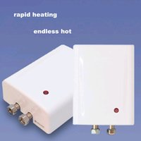 Wholesale Electric Hot Water Heater Shower - 4500W Instantaneous heating Bathroom Shower Washbowl wash basin Bidet Pedestal Instant Hot Water Heater Electric Tankless Boiler