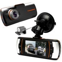 grabadora de vídeo del vehículo videocámara al por mayor-1080P Full HD Car DVR Dash Camera Vehículo Digital Video Recorder 120 Grados Dual Lens Camcorder Night Vision CAL_3A2