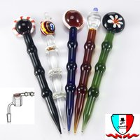 Wholesale Wholesale Stone Pipes - 2017 new Arrival glass worked oil dabber smoking accessories Glass pencil dabber health stone pipe Oil Dabber