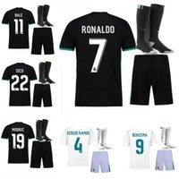Wholesale Shirt Shorts For Children - 17 18 real Madrid child boy kit jersey benzema allows ronaldo soccer modrich crosse sergio ramos bell marcelo for the 2017 2018 shirt