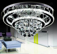 Wholesale Brilliant Steel - Modern luxurious generous style , brilliant stainless steel Led chandeliers ceiling light fixture, with intelligent remote control MYY