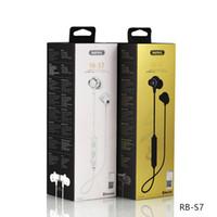 en iyi kablosuz mp3 çalar toptan satış-Spor kulaklıklar Remax Manyetik Boyun Bandı en kablosuz kulaklık gürültü azaltın bluetooth spor kulaklıklar derin bas Hifi MP3 müzik çalar