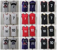 2017-2018 Jugend Basketball adldas Retro Rapt0rs # 1 McGRADY # 7 LOWRY # 10 DEROZAN # 15 CARTER Weiß Rot Schwarz Lila Basketball jerseys Kurz