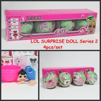 Wholesale Set Retail Baby - 4pcs set LOL Surprise Dolls Baby Dolls Lil Sisters Series 2 Lets be Friends Action Figures Toys Baby Doll With Retail Box